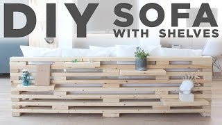 getlinkyoutube.com-DIY Sofa with Shelves   A 3-Tool Project