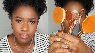 getlinkyoutube.com-Are Oval Brushes Worth the Hype?!? Talk Through Full Face Tutorial!!!|Mona B.