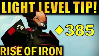 getlinkyoutube.com-(PATCHED) Destiny: INSANE LIGHT LEVEL TIP! | Get to 365+ Light EASY! | Rise of Iron
