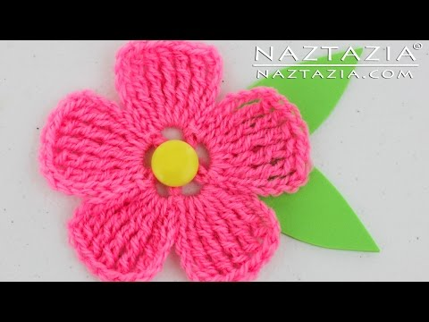 DIY Learn How to Crochet a Flower for a Hat Purse or Shawl Tutorial Flowers