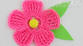 getlinkyoutube.com-DIY Learn How to Crochet a Flower for a Hat Purse or Shawl Tutorial Flowers