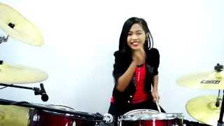 getlinkyoutube.com-GOYANG DUMANG - cita citata - Drum Cover by Nur Amira Syahira