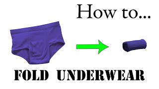 getlinkyoutube.com-Army Packing Hack: How to Fold Underwear, Basic Training Style - The Best Ranger Roll Tutorial
