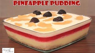 getlinkyoutube.com-Multi Layered Pineapple Pudding | How To Make Pudding | Christmas Dessert | Simply Jain