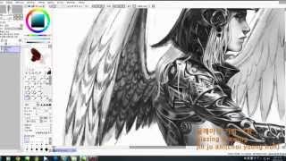 #1.glazing drawing, speed fainting 글레이징 기법(은빛천사)그리기