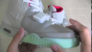getlinkyoutube.com-Nike Air Yeezy 2 Real vs Fake