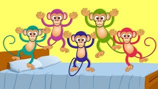 getlinkyoutube.com-Kids TV Nursery Rhymes - Five Little Monkeys | kids songs and nursery rhymes for children