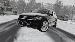 City Car Driving 1.5.3 VW Touareg 2014 V8 TDI SNOW [G27]