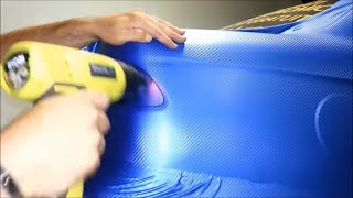 getlinkyoutube.com-Do it Yourself (DIY) Car Wrapping: Applying vinyl wrap 5/13 (first time)