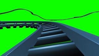 getlinkyoutube.com-Green Screen Track Rail Fast in Space Train - Footage PixelBoom