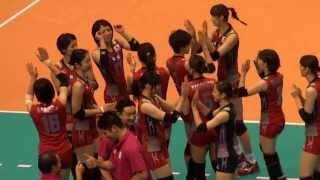 getlinkyoutube.com-2013女子バレー グラチャン 日本vsタイ 試合開始前のハイタッチ!