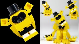 getlinkyoutube.com-How to Build LEGO Golden Freddy | LEGO FNAF