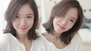 getlinkyoutube.com-How I Style My Short Hair 짧은 머리 스타일링