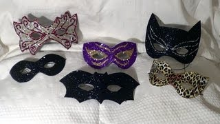 getlinkyoutube.com-DIY -  Máscaras de Carnaval e Halloween - Carnival and Halloween masks