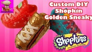getlinkyoutube.com-Shopkins DIY Custom Toy Gucci Golden Sneaky Sue - DIY Toy Craft Video