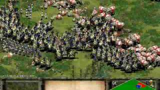 Age of Empires 2 - 800 Elephants vs. 400 Warriors view on youtube.com tube online.