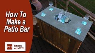 getlinkyoutube.com-How to Make a Patio Bar - DIY Concrete Counter Bar with Wood Base