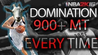 getlinkyoutube.com-How to get 900 MT in DOMINATION EVERY TIME -  NBA 2k16
