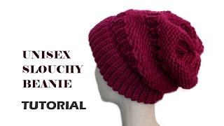 getlinkyoutube.com-Unisex Slouchy Beanie Tutorial  [Loom Knitting]