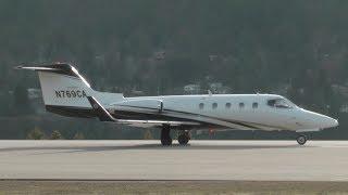 getlinkyoutube.com-Gates Learjet 28 Loud Takeoff!