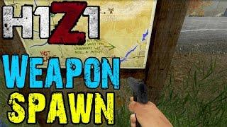 getlinkyoutube.com-H1Z1 - Good Weapon Spawn