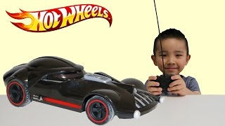 getlinkyoutube.com-Hot Wheels RC Star Wars Darth Vader Car Unboxing/Playing With Ckn Toys Remote Control Toys