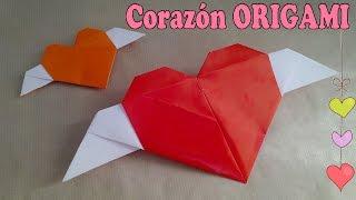 getlinkyoutube.com-#Origami - Corazón Alado