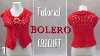 getlinkyoutube.com-Como tejer bolero a crochet en varios talles (1/2)