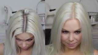 getlinkyoutube.com-How To Platinum Blonde Regrowth At Home Colour Routine