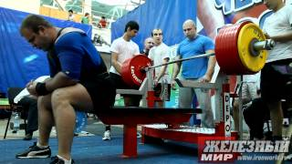 getlinkyoutube.com-Naydenov Viktor World Record. Benchpress 407.5 kg @123 kg.