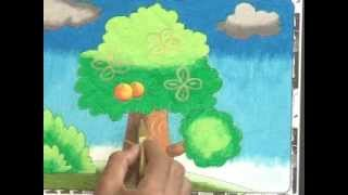 getlinkyoutube.com-Belajar Mewarnai Pohon