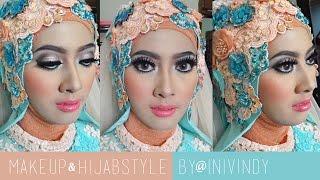 Tutorial Makeup & Hijabstyle Untuk Resepsi | Pengantin Muslim by Inivindy