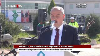 Nevruz, Osmaniye'de coşkuyla kutlandı