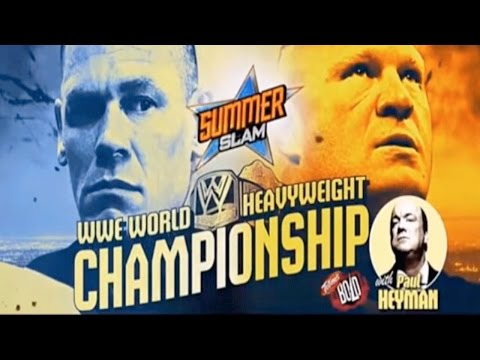 WWE Summerslam 2014 - John Cena vs Brock Lesnar - WWE World Heavyweight Championship Full Match HD