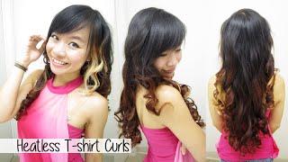 getlinkyoutube.com-How to Curl Hair Without Heat l Heatless T-shirt Curls / Rag Curls l No Heat Curls/Waves