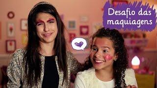 getlinkyoutube.com-Desafio da maquiagem com Fe Concon e Gabriella Saraivah  ❤ Mundo da Menina