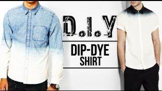 getlinkyoutube.com-HOW TO: DIP-DYE (OMBRÉ) SHIRT ● D.I.Y TUTORIAL | JAIRWOO