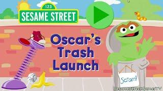 getlinkyoutube.com-Sesame Street Oscar's Trash Launch Bumper Cars Children Mini Games
