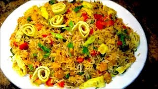 getlinkyoutube.com-How to make Chinese Chicken Fried Rice | Indian Style Fried Rice Recipe