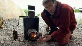 getlinkyoutube.com-Ep 1 : Fabriquer 3 types de poele rocket / 3 Homemade rocket stoves