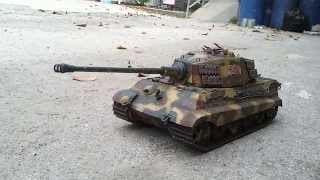 getlinkyoutube.com-King Tiger 1/24 VSTANK Clark Electric!!!
