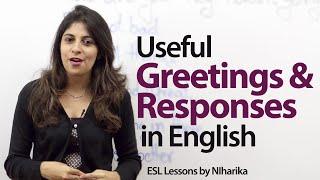 getlinkyoutube.com-Useful English greetings and responses -- Free English Lesson