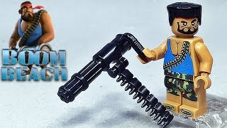 getlinkyoutube.com-sy 붐비치 중화기병 전장의 방패 미니건 레고 짝퉁 미니피겨 Lego knockoff Boom Beach game BULLET SPONGE minifigure