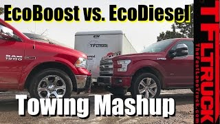getlinkyoutube.com-2017 Ford F-150 EcoBoost 10-Speed vs Ram 1500 EcoDiesel 8-Speed Towing MPG Review