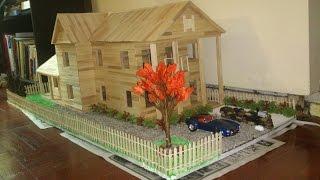 getlinkyoutube.com-POPSICLE STICK HOUSE WITH LANDSCAPE! (SLIDESHOW)