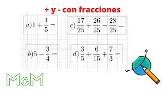 getlinkyoutube.com-Sumas, restas, multiplicación y división de fracciones. Mica.