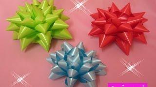 getlinkyoutube.com-MANUALIDADES:Moños Estrella para Regalos