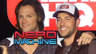 getlinkyoutube.com-Conversation with Jared Padalecki - Nerd HQ (2011) HD - Zachary Levi
