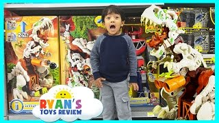 getlinkyoutube.com-TOY HUNT for Imaginext Ultra T-Rex Paw Patrol Max Tow Truck Hot Wheels Monster Truck Ryan ToysReview