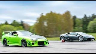 [4k] Supra 1000+ HP vs Lamborghini Huracán LP610-4